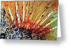 Nature Is Life Life Is Nature Be Bright Be Bold Series Greeting Card by Michael Rados