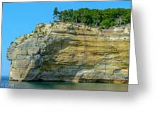 Nature Made- Indian Head Pictured Rocks Greeting Card