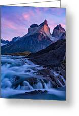 Nature's Sunrise Canvas Greeting Card
