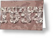 Nautical 1934 Greeting Card