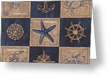 Nautical Burlap Greeting Card