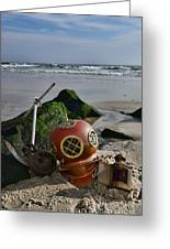 Nautical Collection Found On The Beach Greeting Card