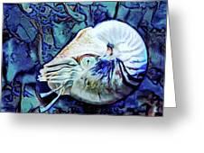 Nautilus Blue Greeting Card