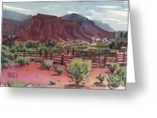 Navajo Corral Greeting Card