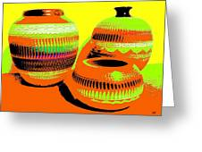 Navajo Pots Greeting Card