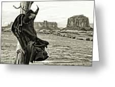 Navajo Saddle Greeting Card
