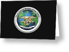 Naval Special Warfare Group Three - Nswg-3 - On Black Greeting Card