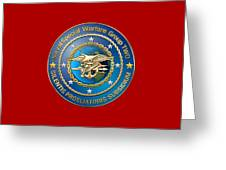 Naval Special Warfare Group Two - N S W G-2 - On Red Greeting Card