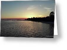 Navarre Florida Sunset Greeting Card