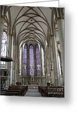Nave - St Lambertus - Germany Greeting Card