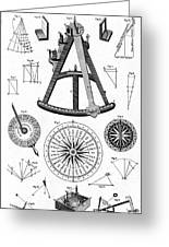 Navigational Instruments, E.g. Sextant Greeting Card