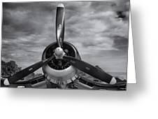 Navy Corsair Propeller Greeting Card by Roger Wedegis
