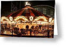 Navy Pier Merry-go-round Chicago Il Greeting Card