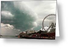 Navy Pier Overcast Greeting Card