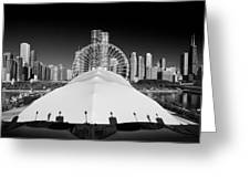 Navy Pier Wheel Greeting Card