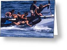 Navy Seals Practice High Speed Boat Greeting Card