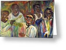 Nawlins Jazz Greeting Card by Made by Marley