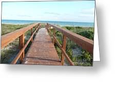 Nc Beach Boardwalk Greeting Card