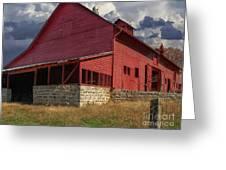 Nc Red Barn Greeting Card