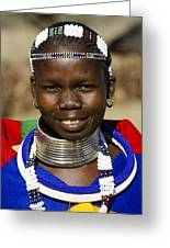 Ndebele Maiden Greeting Card