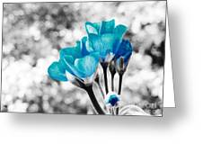 Near Bloom Blue Greeting Card