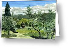 Near San Giovanalle Tuscany Greeting Card