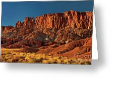 Near The Fluted Wall In Capitol Reef National Park Utah Greeting Card
