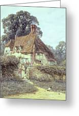 Near Witley Surrey Greeting Card by Helen Allingham