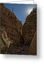 Nearing The Slot Canyon - Tent Rocks Greeting Card