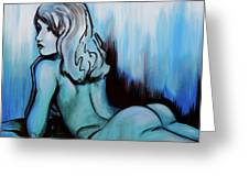 Nearly Naked Blue Ombre' Greeting Card