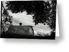 Nebraska - Barn - Black And White Greeting Card