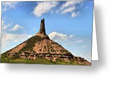 Nebraska Chimney Rock Panorama Greeting Card