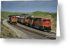 Nebraska Coal Trains Greeting Card by Garry McMichael