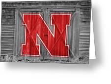Nebraska Cornhuskers Barn Doors Greeting Card