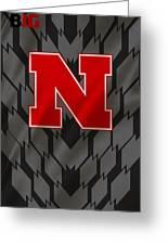 Nebraska Cornhuskers Uniform Greeting Card