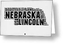 Nebraska Word Cloud 2 Greeting Card