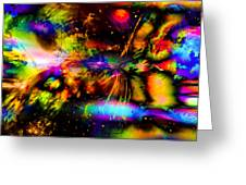 Nebula Collision Course Greeting Card