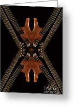 Necking Guitars Greeting Card