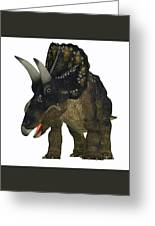 Nedoceratops On White Greeting Card