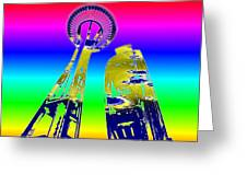Needle And Ferris Wheel Fractal Greeting Card