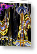 Needle And Ferris Wheel  Greeting Card