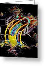 Needle In Fractal 4 Greeting Card