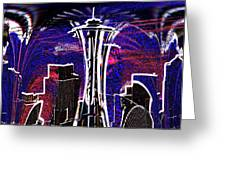 Needle In The City Greeting Card