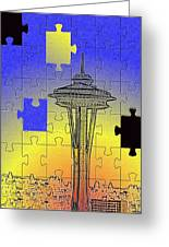 Needle Jigsaw Greeting Card