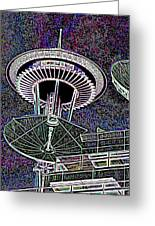 Needle Over Fisher Plaza Greeting Card