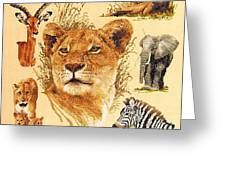 Needlework - African Animals Greeting Card