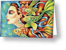 Nefertiti Sea Journey Greeting Card
