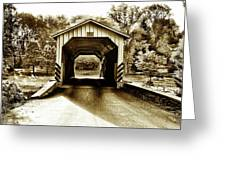 Neff's Mill Covered Bridge - Lancaster County Pa. Greeting Card
