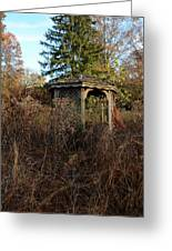 Neglected Old Gazebo Greeting Card