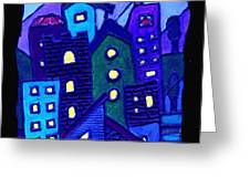 Neighborhood Blues Greeting Card